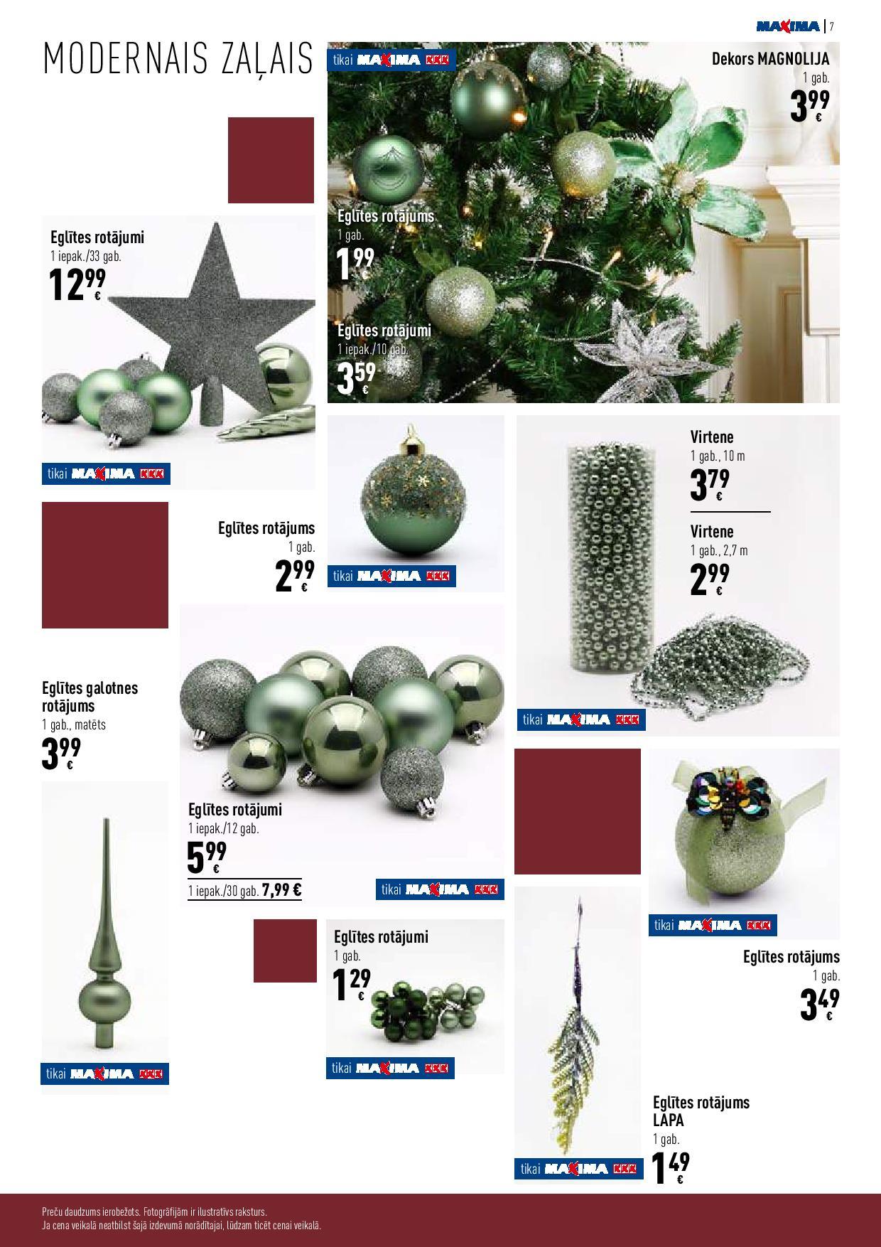 MAXIMA Dekoru katalogs 19.11.2020 - 09.12.2020