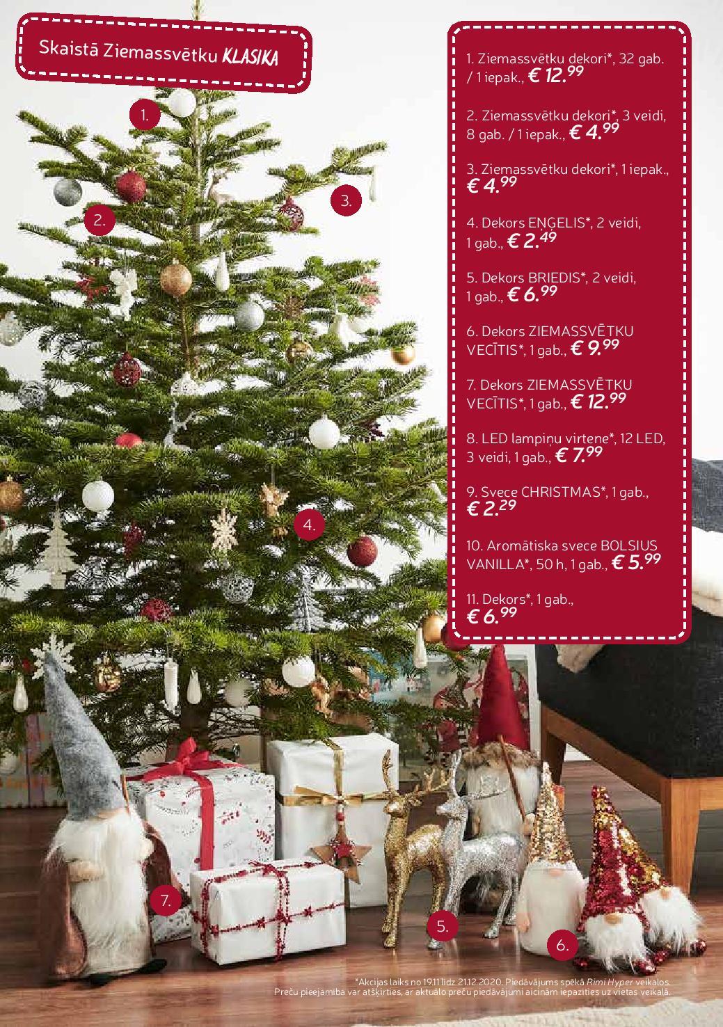 RIMI Ziemassvētku iedvesmai  19.11.2020 - 21.12.2020
