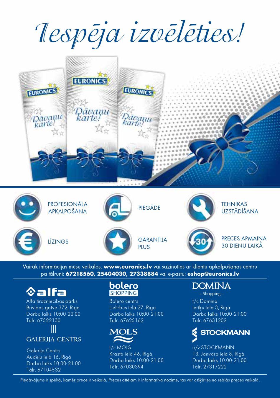 EURONICS akcijas buklets 01.12.2016 - 31.12.2016